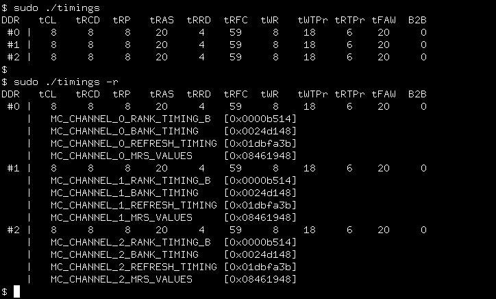 DDR3 Timings